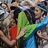 Fellow contestants congratulated her after the pageant.