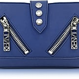 Kenzo Dark Blue Gommato Leather Kalifornia Wallet