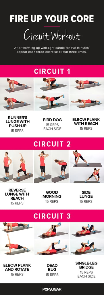 Printable Core Workout