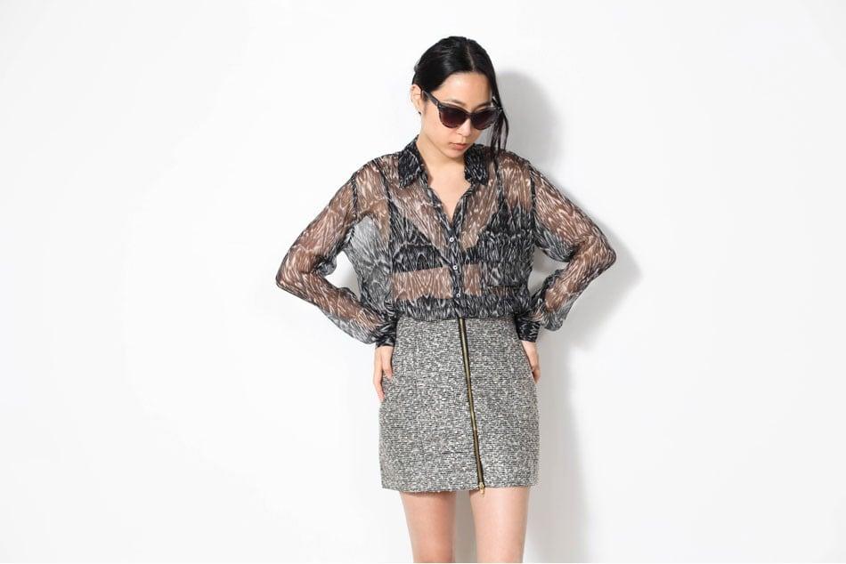 A Modern Tweed Skirt