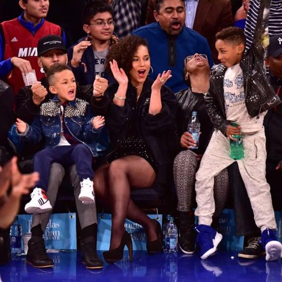 Alicia Keys and Swizz Beatz at NY Knicks Game November 2015