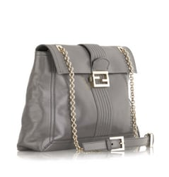 Fendi Oversized Logo Shoulder Bag