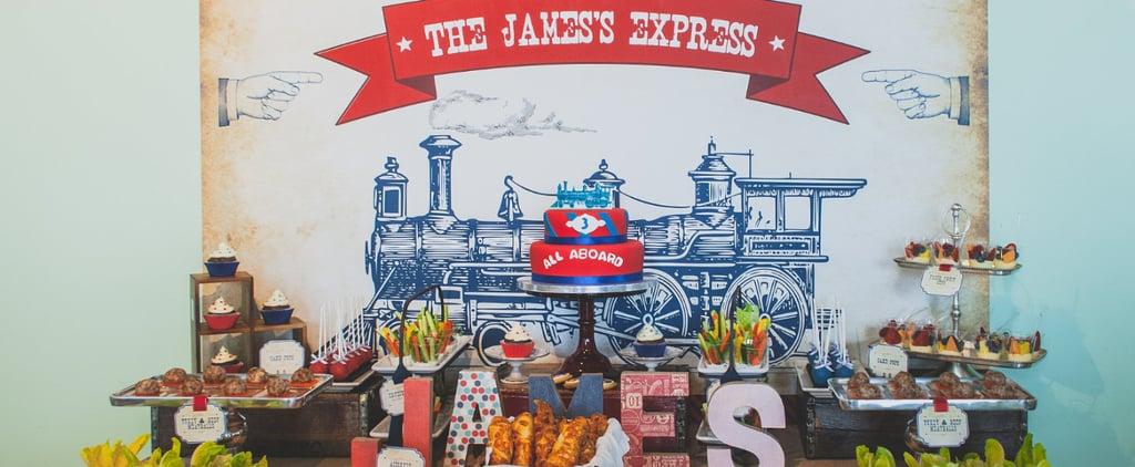 A Vintage-Train Birthday Party