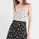 Urban Outfitters Mixed-Print Floral Slip Dress