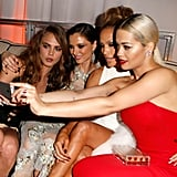 Rita Ora snapped a selfie with J Lo, Cara Delevingne, and Georgina Chapman during the Weinstein Company afterparty.