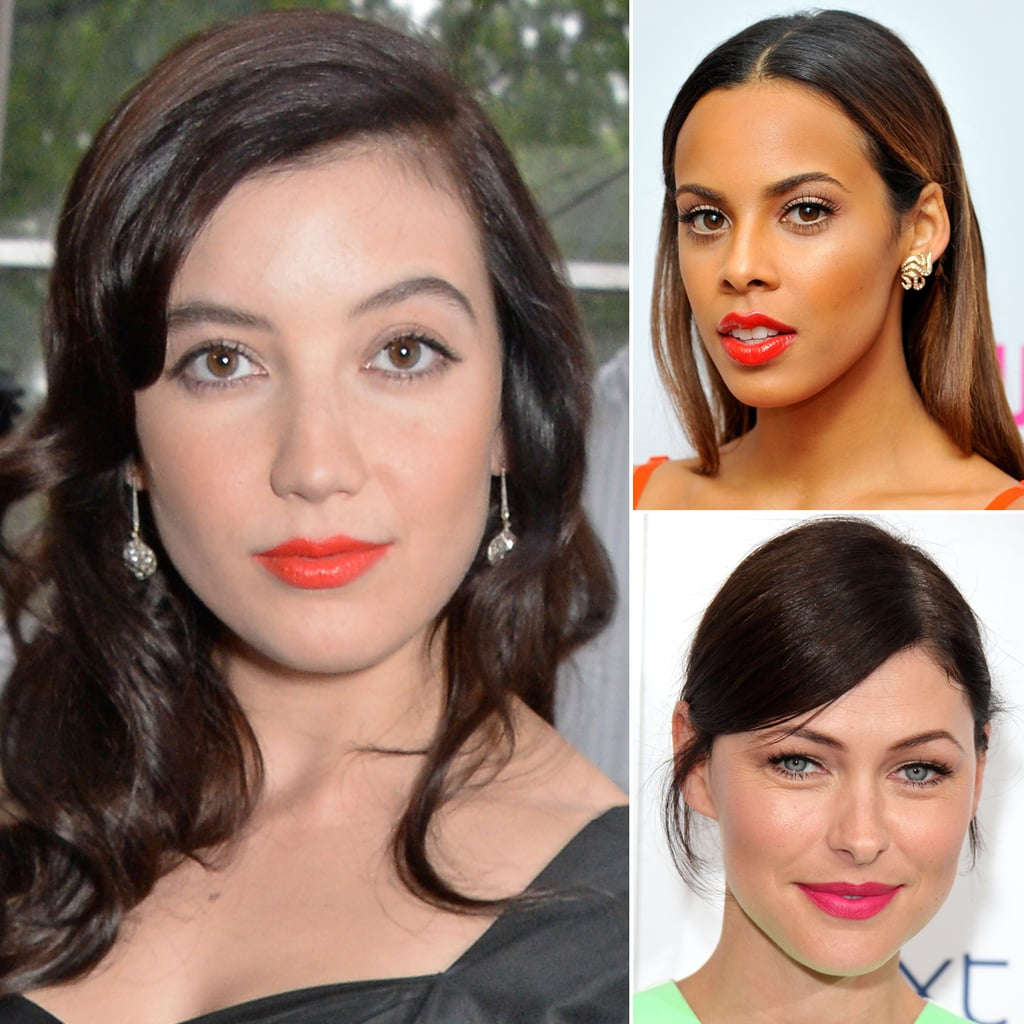 Celebrities in Bright Lipstick at the Glamour Awards