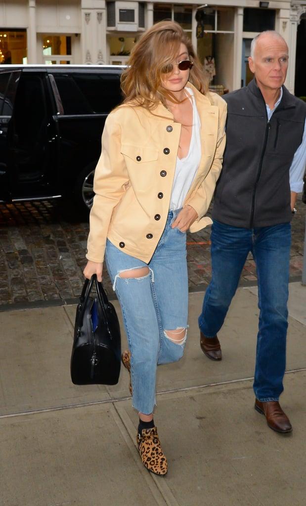Gigi Hadid Leopard Boots
