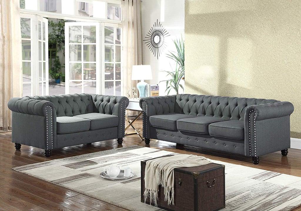 best master furniture venice 2 piece upholstered sofa set