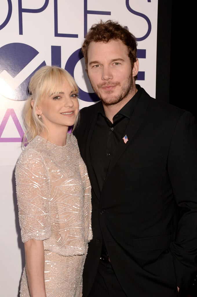 Anna Faris and Chris Pratt posed for a cute photo in 2014.