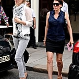 Kate Moss and Sadie Frost went to lunch in Primrose Hill, London, to celebrate Sadie's birthday.