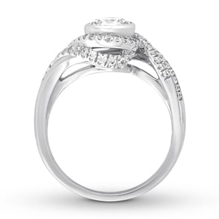 Diamond Engagement Ring 1-1/4 ct tw Round-cut 14K White Gold