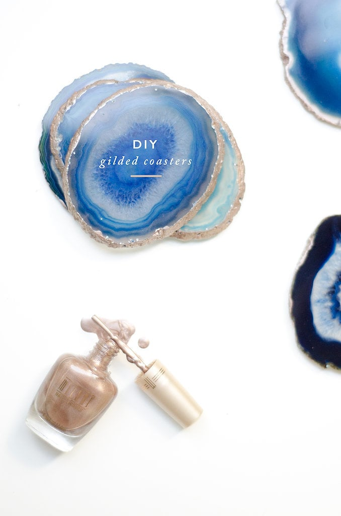 Gilded Agate Coasters Best Diy Projects For Home Decorating Popsugar Home Photo 16