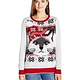 Ugly Christmas Sweater Women's Light-up Cat Face