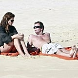 Cindy Crawford and Rande Gerber spent their Thanksgiving weekend at the beach in Mexico.