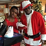 Sean Combs really got into the Christmas spirit.