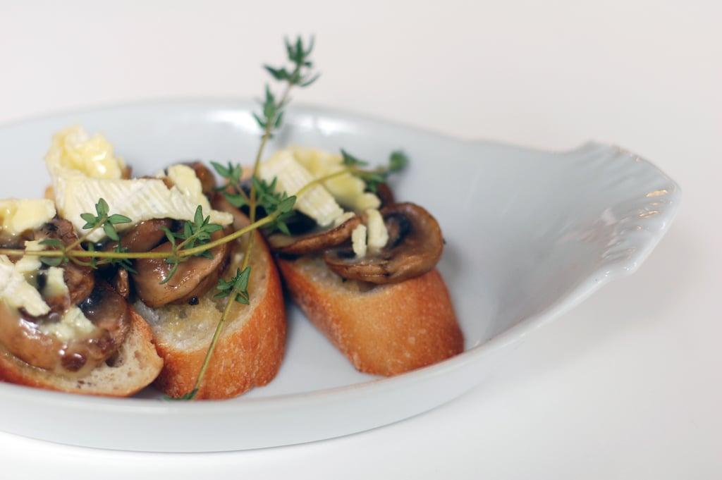 Vegetarian Appetizers: Mushroom and Brie Bruschetta