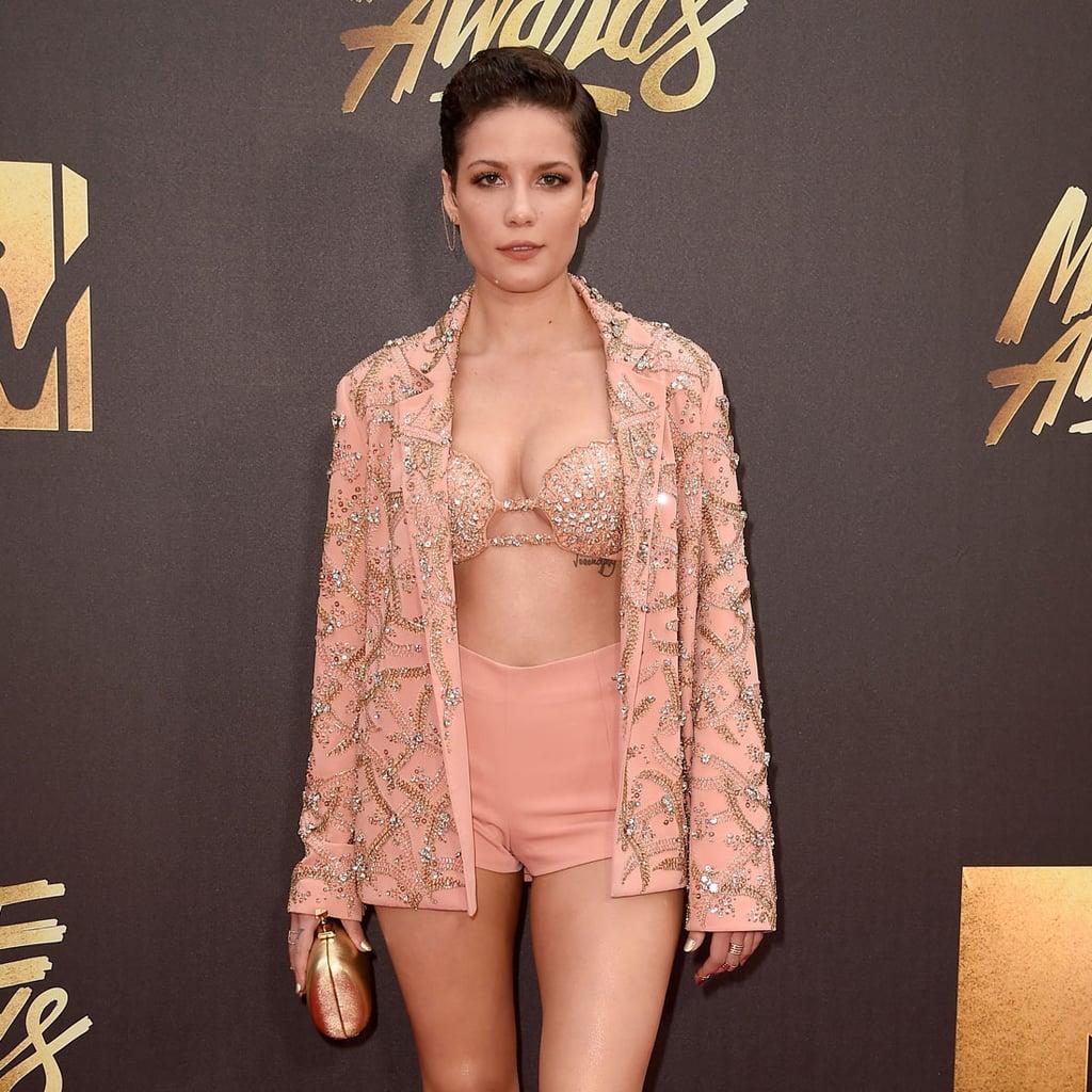 Halsey's Bra Top at MTV Movie Awards 2016