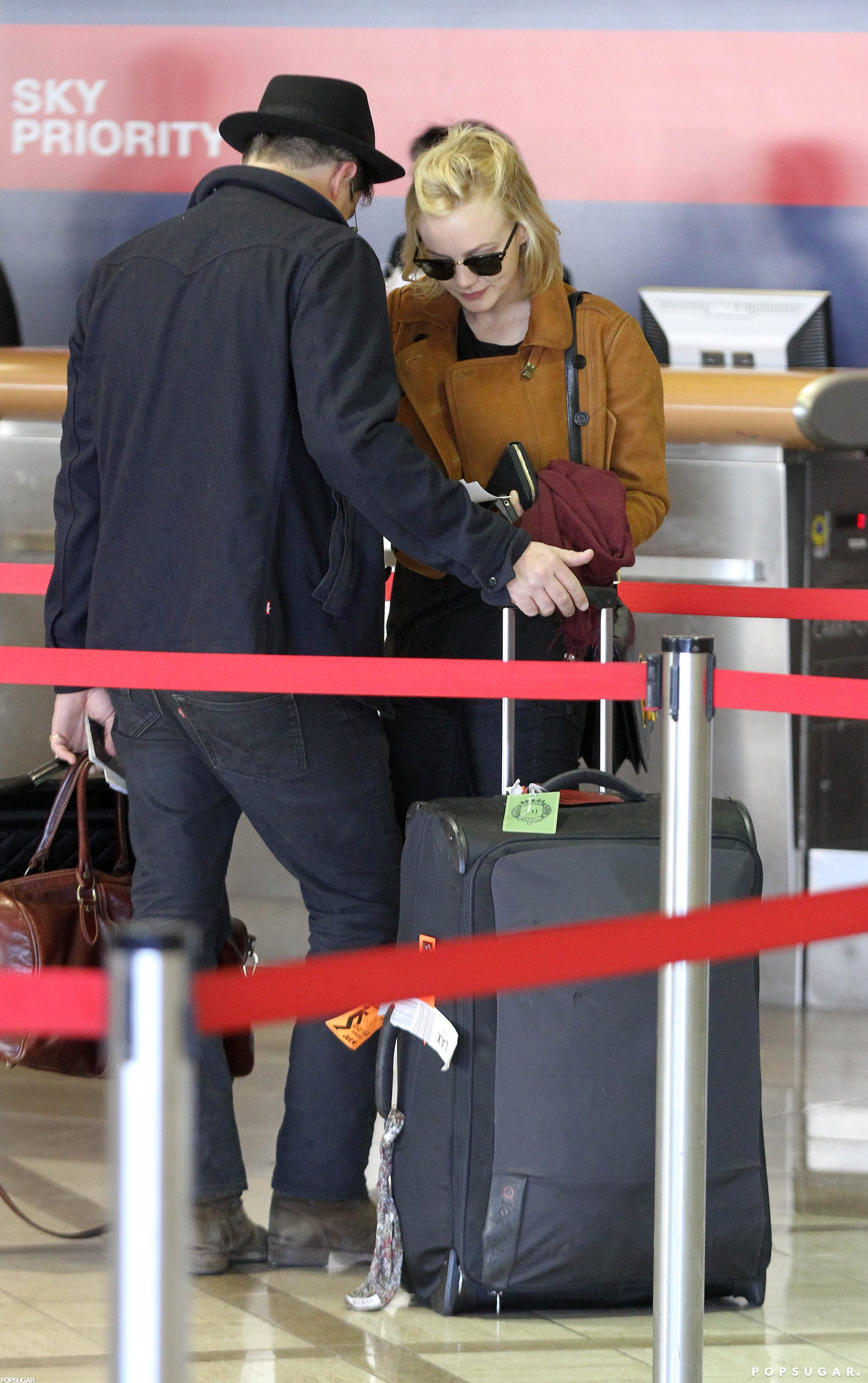 Carey Mulligan and Marcus Mumford chatted while waiting.
