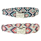 Personalized Laser Engraved Nickel Finish Metal Buckle Southwest Tribal Native American Dog Collar ($26 and up)