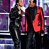 Alicia Keys and Smokey Robinson