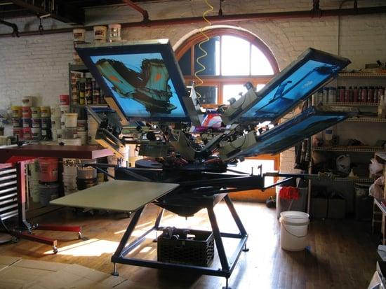 Quist Industries Screenprinting Studio In Redhook Brooklyn