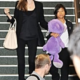 Angelina Jolie and her son Pax made their way through Tokyo airport on July 30, before the pair paid a top-secret visit to Sydney for just a few hours.