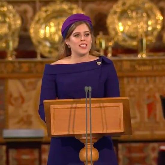 Princess Beatrice Reading at Princess Eugenie Wedding Video