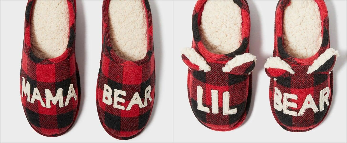 Mama Bear, Papa Bear, and Lil Bear Slippers at Target