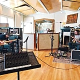 Here's the band recording in the studio A tracking room.