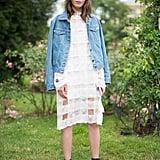 Reimagine a romantic dress with tough-girl heels.