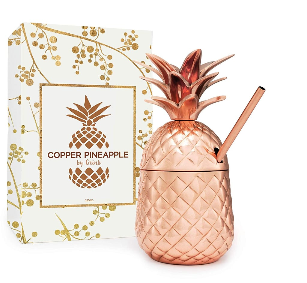 Solid Copper Pineapple Tumbler