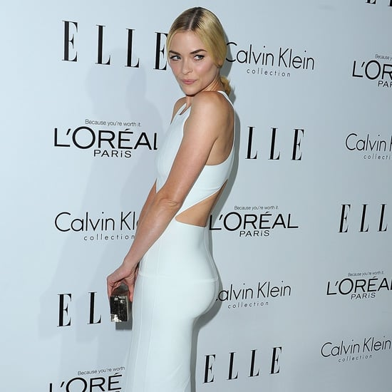 Jaime King Wearing White Cutout Dress