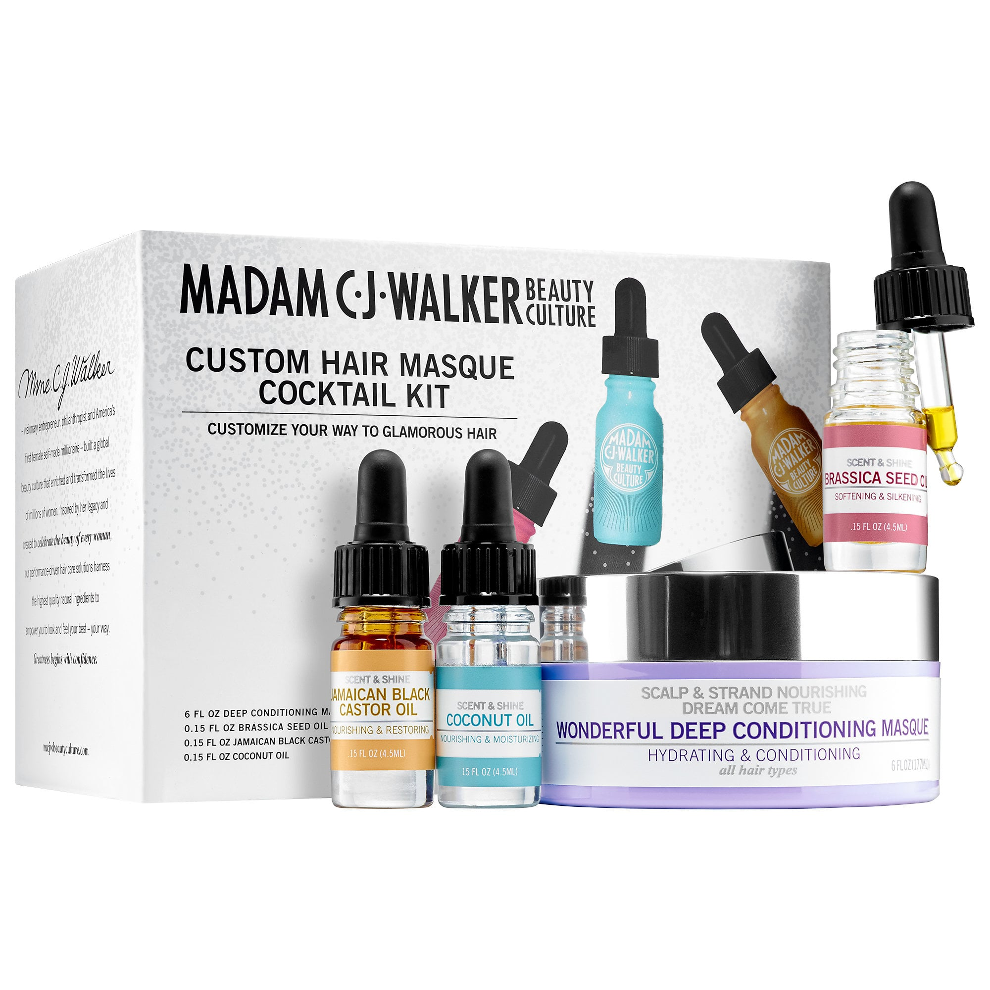 Madam C J Walker Beauty Custom Hair Masque Cocktail Kit A Definitive List Of The Best Brown Girl Beauty Products Of 2016 Popsugar Beauty Photo 2
