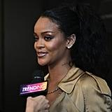 Rihanna Trench Dress at Fenty Beauty Event 2018