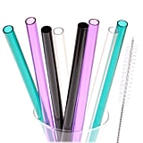 Dakoufish Wide Mouth Reusable Plastic Replacement Drinking Straws