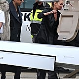 Pictures of Kate Moss and Jamie Hince Boarding a Private Jet Leaving Paris