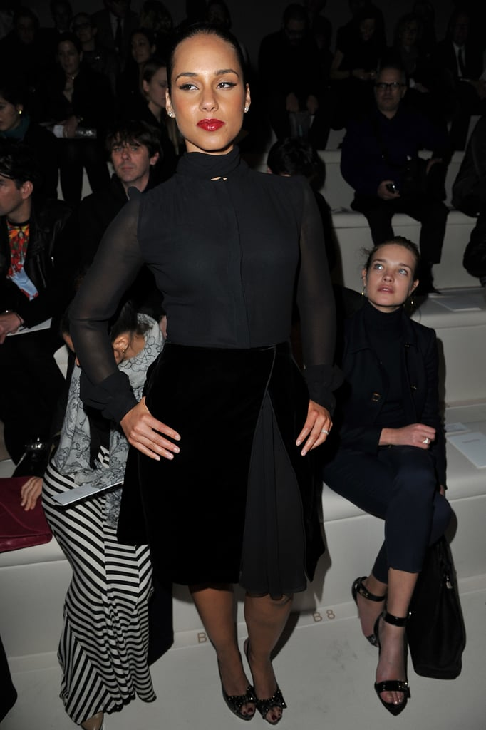 Alicia Keys wore all black to Valentino.