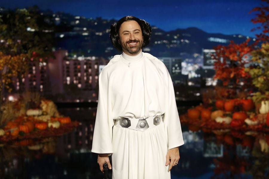 Jimmy Kimmel as Princess Leia | Jimmy Kimmel\'s Star Wars Halloween ...