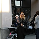 Rachel Zoe at Starbucks with Skyler.