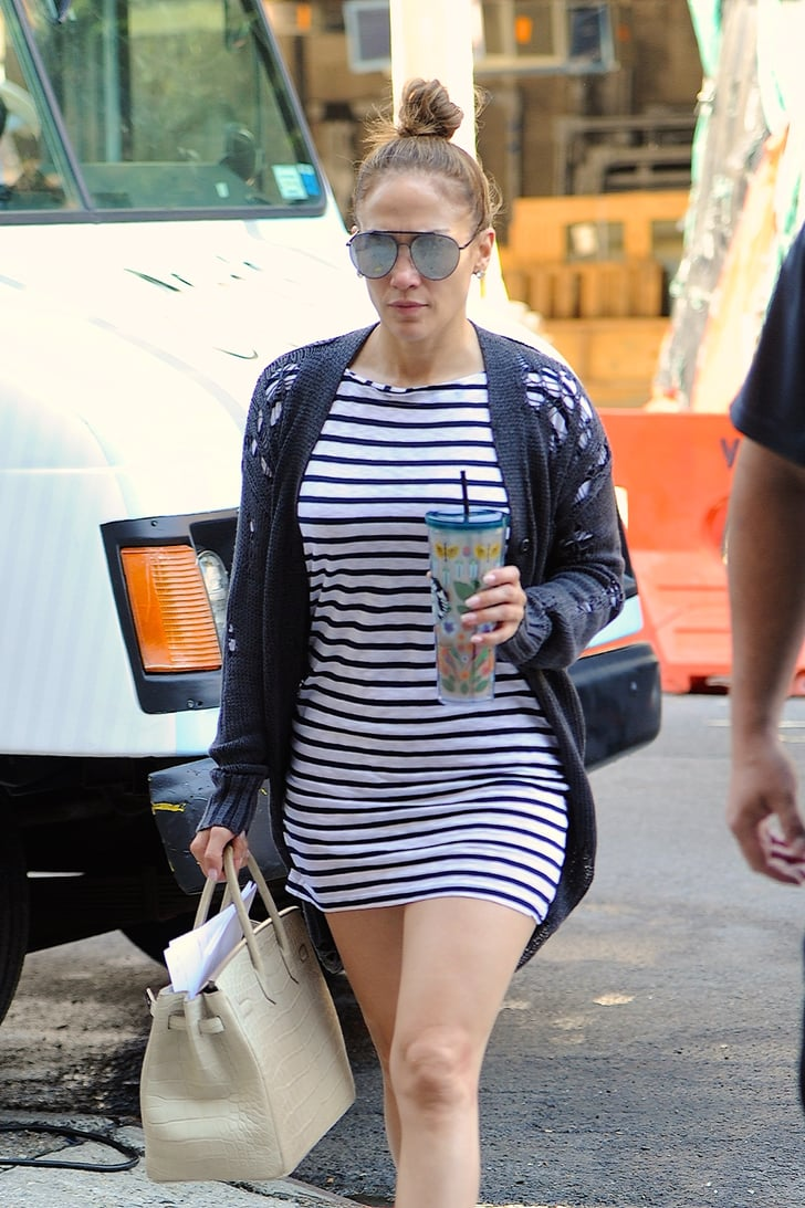 Jennifer Lopez Striped Dress August 2017 Popsugar Latina