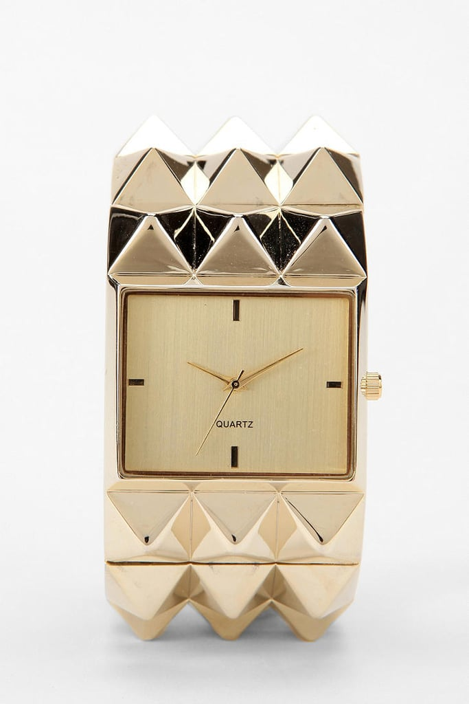 Watches should be functional and fashionable. That's why I love this Pyramid Studded Watch ($38) from Urban Outfitters. The neutral colors and studded texture adds instant edginess to any outfit. Plus, it doubles as a bracelet!