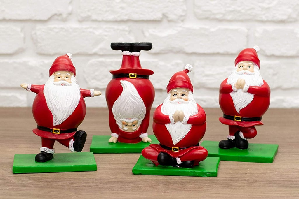 Buy a Set of Four Yoga Santas Here