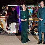 Kate Middleton's Green Jenny Packham Gown in Pakistan