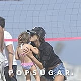 Alessanda Ambrosio kissed her daughter Anja Mazur during a day out in Malibu.