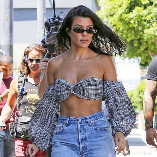 Kourtney Kardashian's Plaid Crop Top