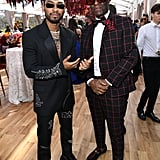 Miguel and Dapper Dan at the 2020 Roc Nation Brunch in LA