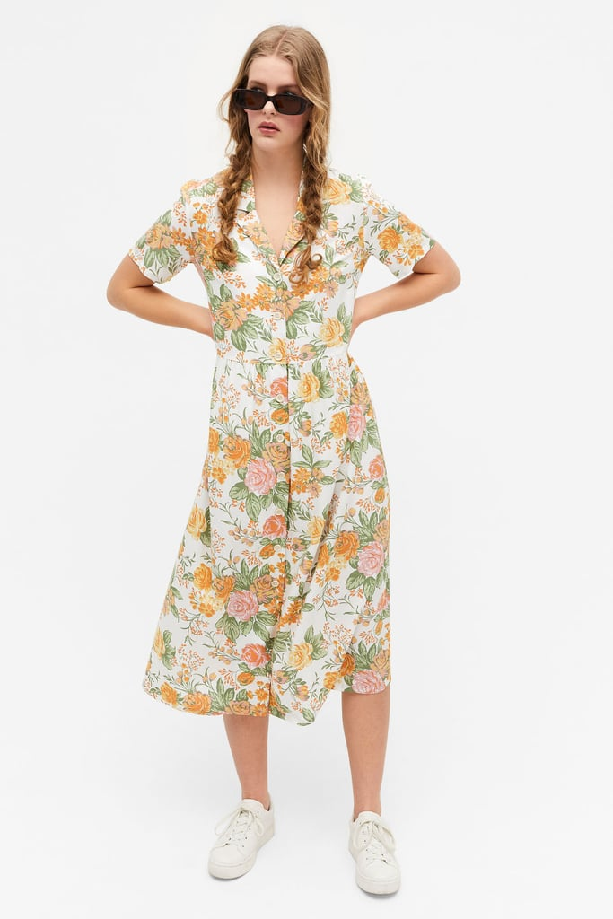 Shop Shirt Dresses: Monki Midi Button Up Shirt Dress