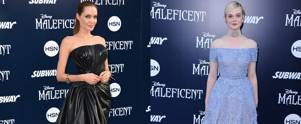 Angelina Jolie and Elle Fanning at the Maleficent Premiere