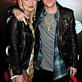 Macklemore and Tricia Davis stepped out for the Beats by Dre Music launch Grammys party.