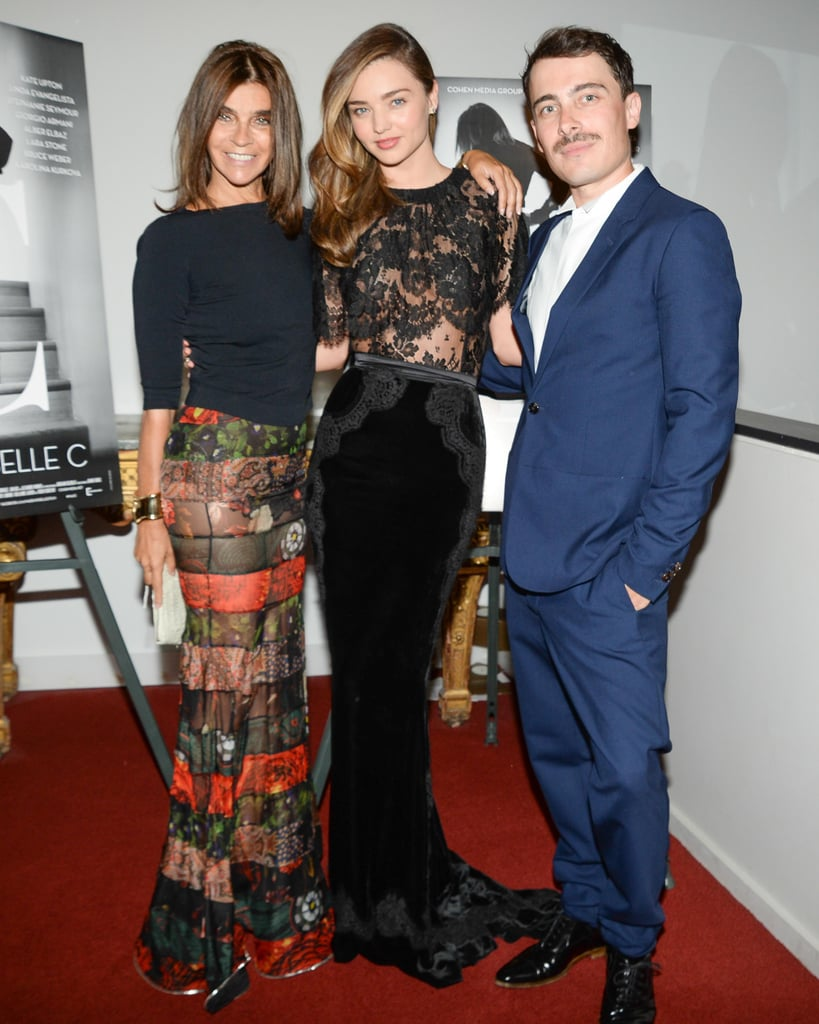 "Miranda Kerr Glams It Up to Celebrate ""Queen of Fashion"" Carine Roitfeld"